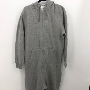 TOPMAN One Piece Zip Up Pajama Size Large Pockets